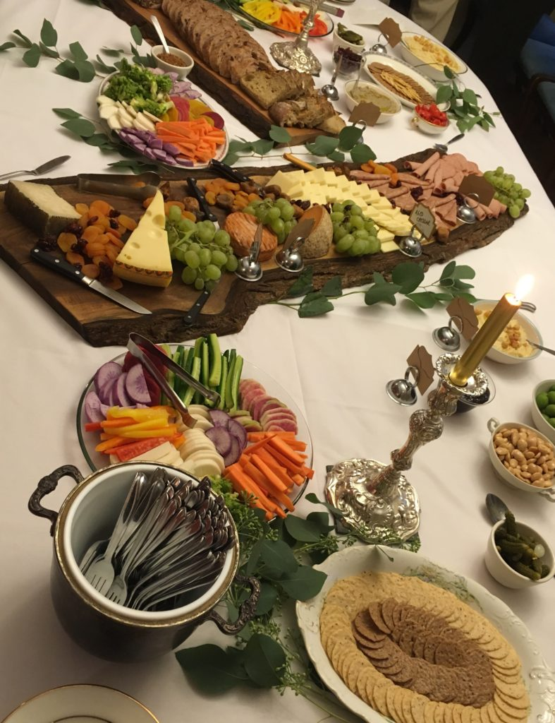 the appetizers for a 50th wedding anniversary cocktail party