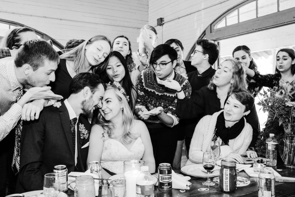 One of my favorite wedding moments - a surprise acapella concert! © 2018 - ALLISON USAVAGE
